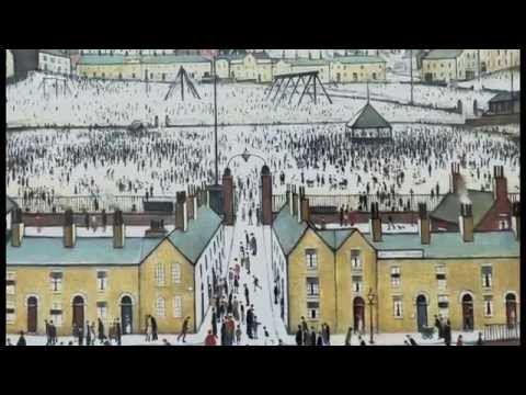 The techniques L.S. Lowry used in Britain At Play