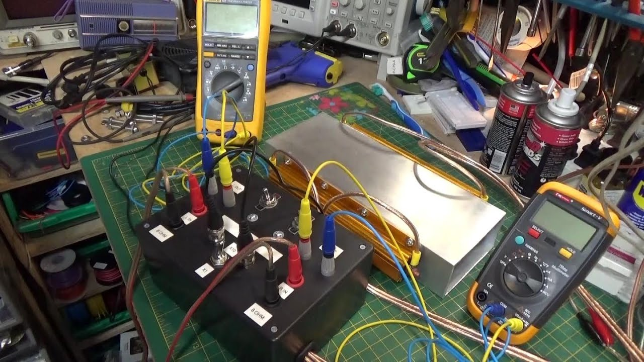 8 Ohm Audio Dummy Load For Amplifier Testing Design And Build Youtube