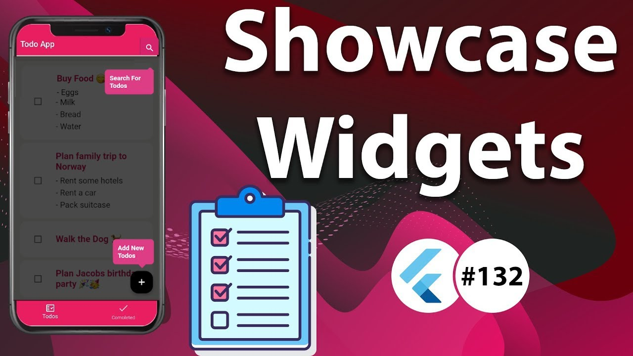 Flutter Tutorial - Showcase & Highlight Widgets of Flutter App