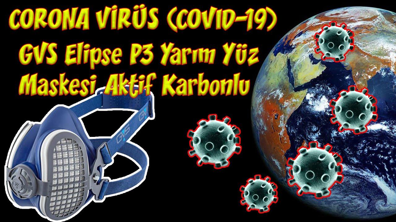 Corona (COVID-19) Virüse Karşı Ne Yapabiliriz ? GVS Elipse P3 Aktif Karbonlu Yarım Yüz Maskesi.