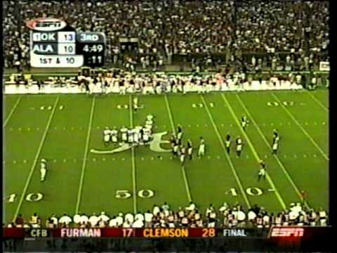 Oklahoma fake punt & TD score against Alabama *(from 9/06/03)
