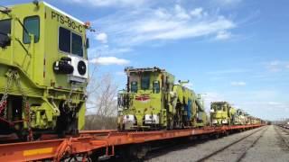 csx work train bnsf ace on k140 mountain man