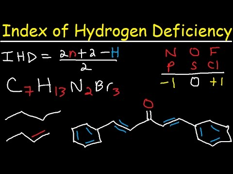 Degree of Unsaturation Calculation - Index of Hydroden Deficiency - IHD, Organic Chemistry