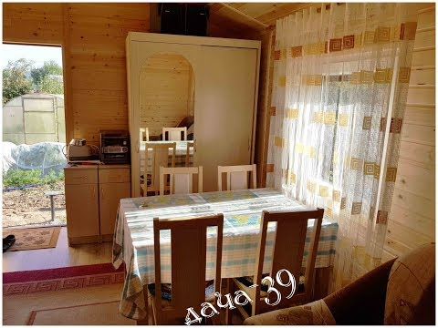 Интерьер в дачном домике 33 м2 изнутри.