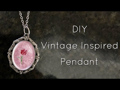 DIY Vintage Inspired Necklace Pendant