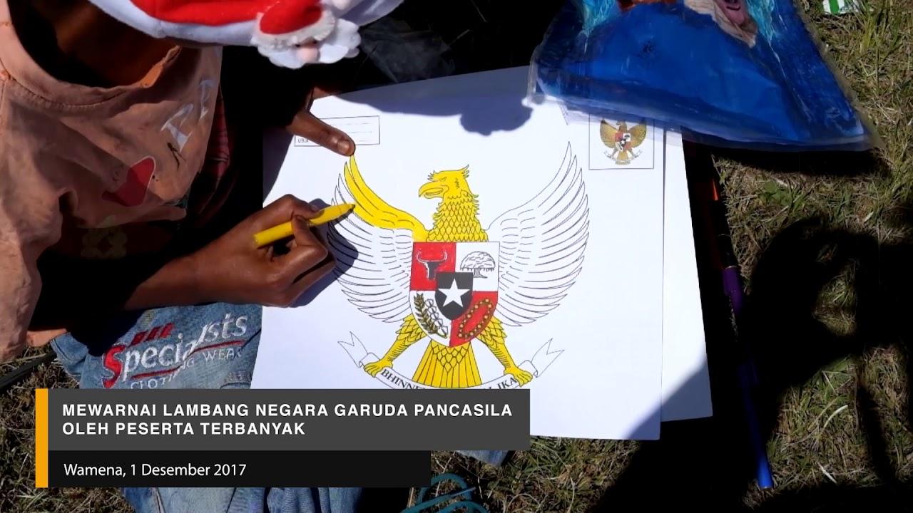 Mewarnai Lambang Negara Garuda Pancasila Oleh Peserta Terbanyak