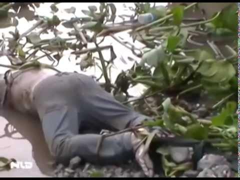 Phát hiện xác chết trôi sông bị trói 2 chân