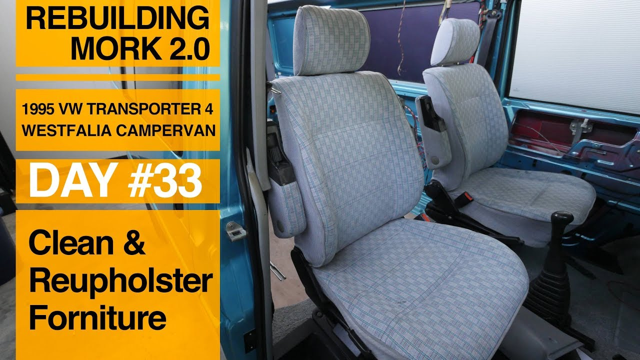 How To Clean Or Reupholster The Seats And The Couch In Your Van