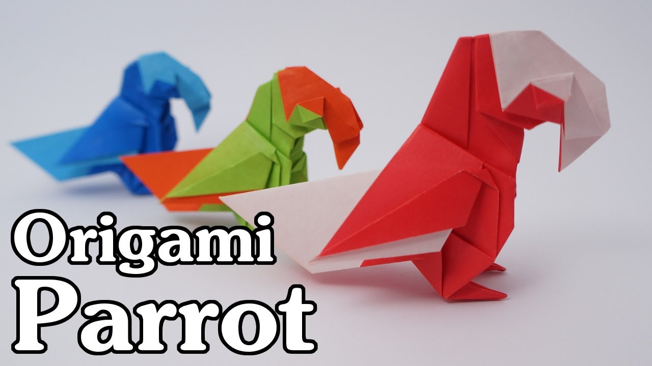 How to make Origami Macaw Parrot ? (Hard Model) - YouTube | 720x1280