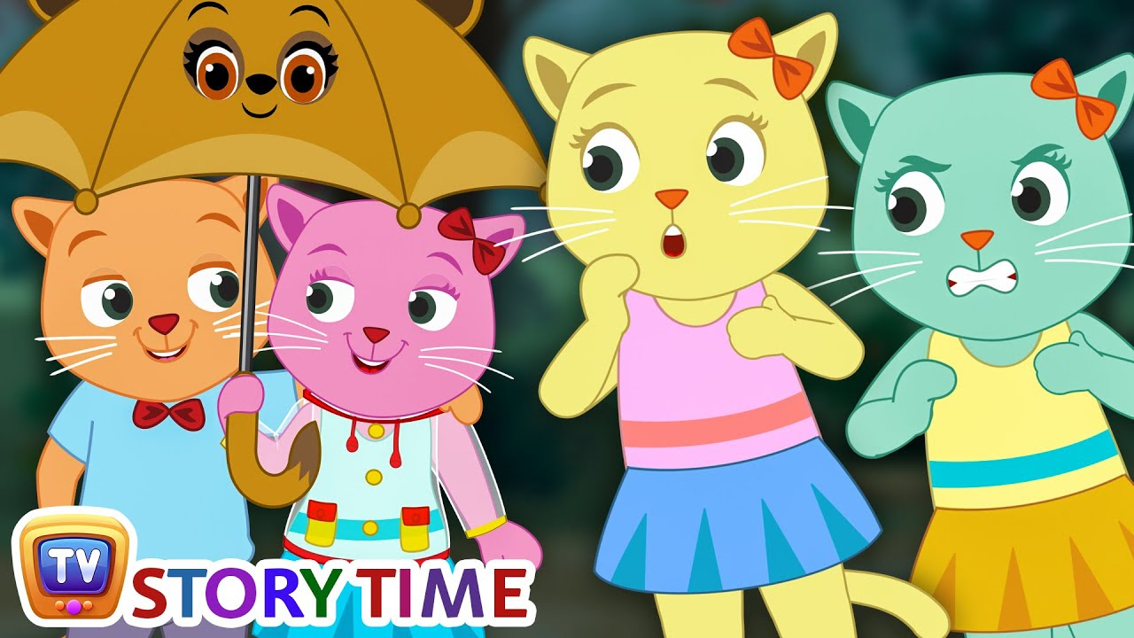 kittens and fake rain prank cutians cartoon comedy show for kids