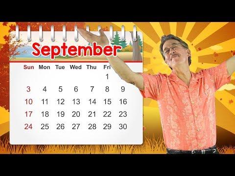 September  Calendar Song for Kids  Jack Hartmann