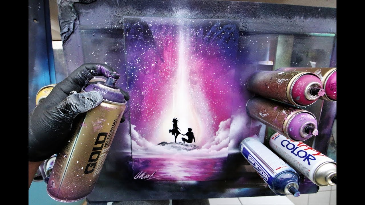 Be My Valentine Spray Paint Art By Skech Youtube