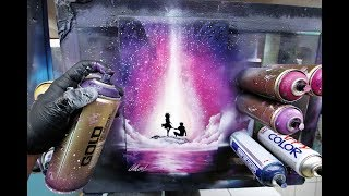 Be my Valentine - SPRAY PAINT ART - by Skech