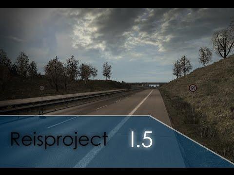 [ETS2 v1.22] ReisProject MAP v1.5 *Testdrive complete A7 / Kassler Berge, Elbtunnel*