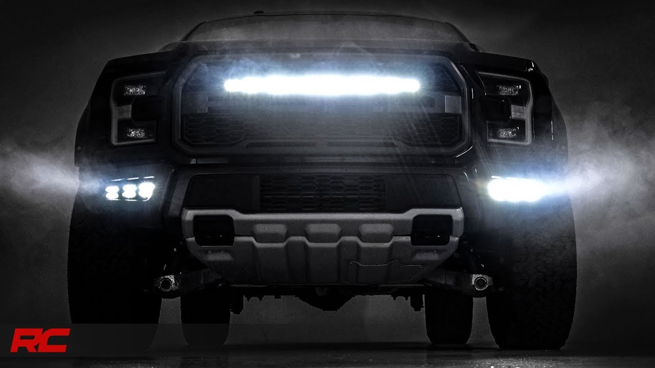 2017 2018 ford f 150 raptor 30 inch single row led light bar grille 2017 2018 ford f 150 raptor 30 inch single row led light bar grille mount kit by rough country aloadofball Choice Image