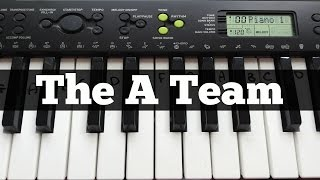 The A Team - Ed Sheeran | Easy Keyboard Tutorial With Notes (Right Hand)