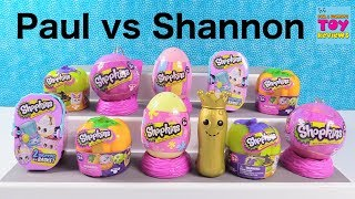 Video Paul vs Shannon Challenge Shopkins Holiday 2 Pack Edition Toy Review Game | PSToyReviews download MP3, 3GP, MP4, WEBM, AVI, FLV November 2017
