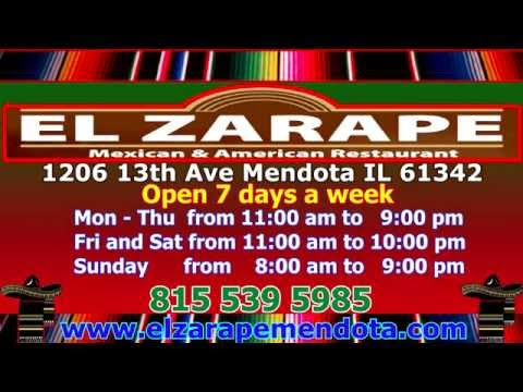 El Zarape Mexican American Restaurant Mendota Illinois (HD)