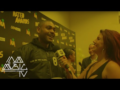 Kano talks about battling Wiley at GRM Daily #RatedAwards with Carly Wilford