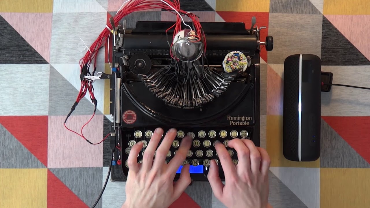 YouTuber Turns a 1920s Typewriter Into a MIDI Drum Machine