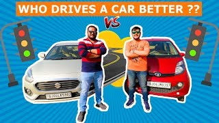 Who Drives a Car Better | Brother Vs Brother Driving Skill Challenge | Viwa Brothers