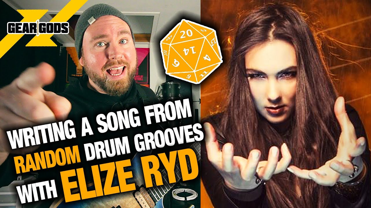 Writing A Song From RANDOM Drum Grooves 6 - Feat  ELIZE RYD of AMARANTHE |  GEAR GODS