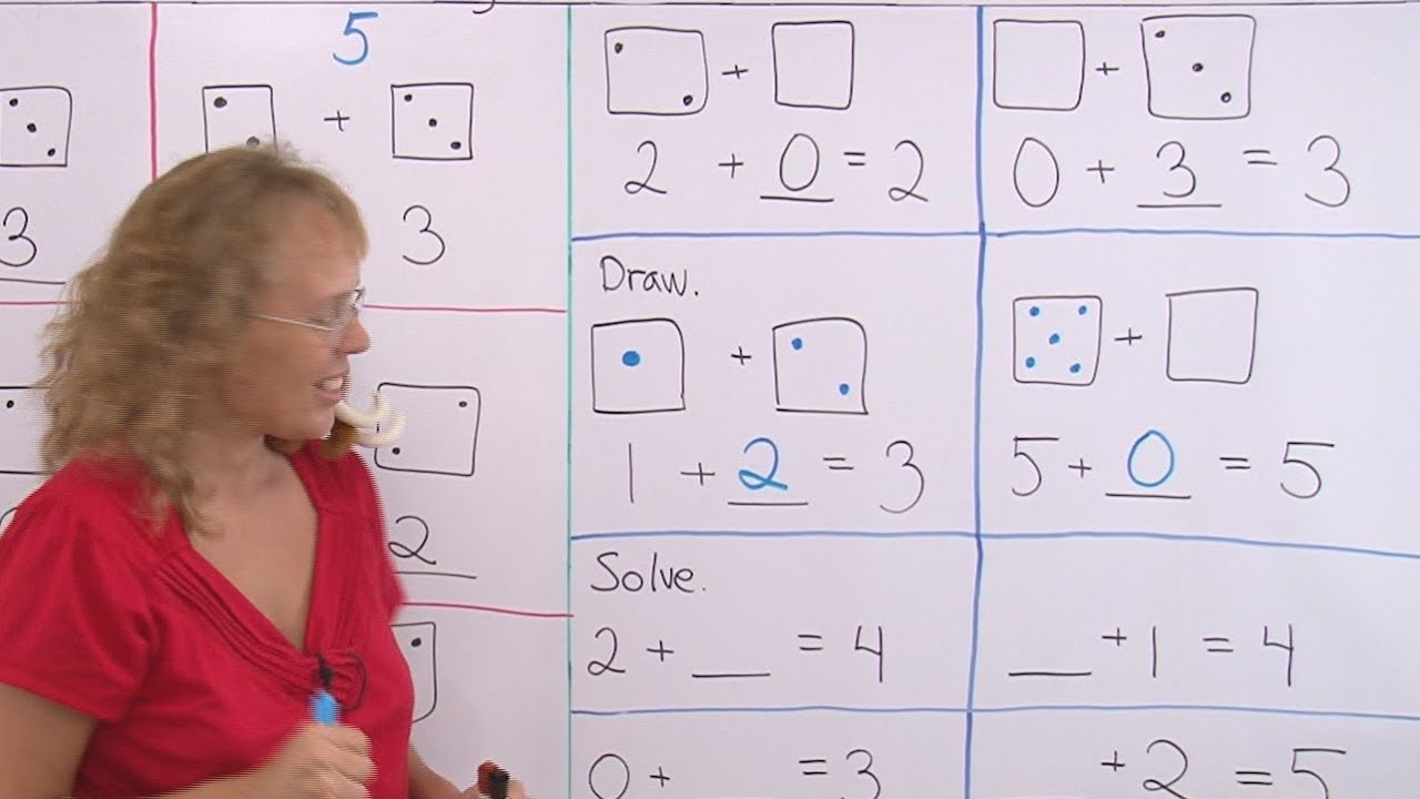 Addition with missing numbers - 1st grade/Kindergarten math lesson - YouTube [ 720 x 1280 Pixel ]