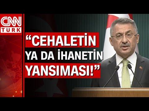 Cumhurbaşkanı Yardımcısı Fuat Oktay'dan CHP'li Çeviköz'ün \