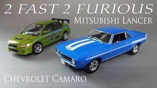 Mitsubishi Lancer и Chevrolet Camaro из фильма Форсаж 2 - масштабные модели 1:43 GreenLight