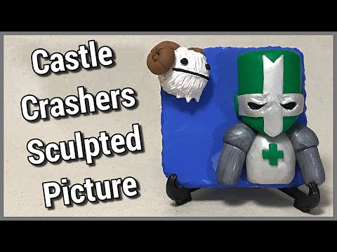 Let's make a Castle Crashers Green Knight Sculpted Picture (Out of Polymer Clay)