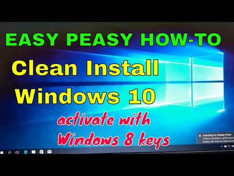How to clean install windows 10 on 8 laptop
