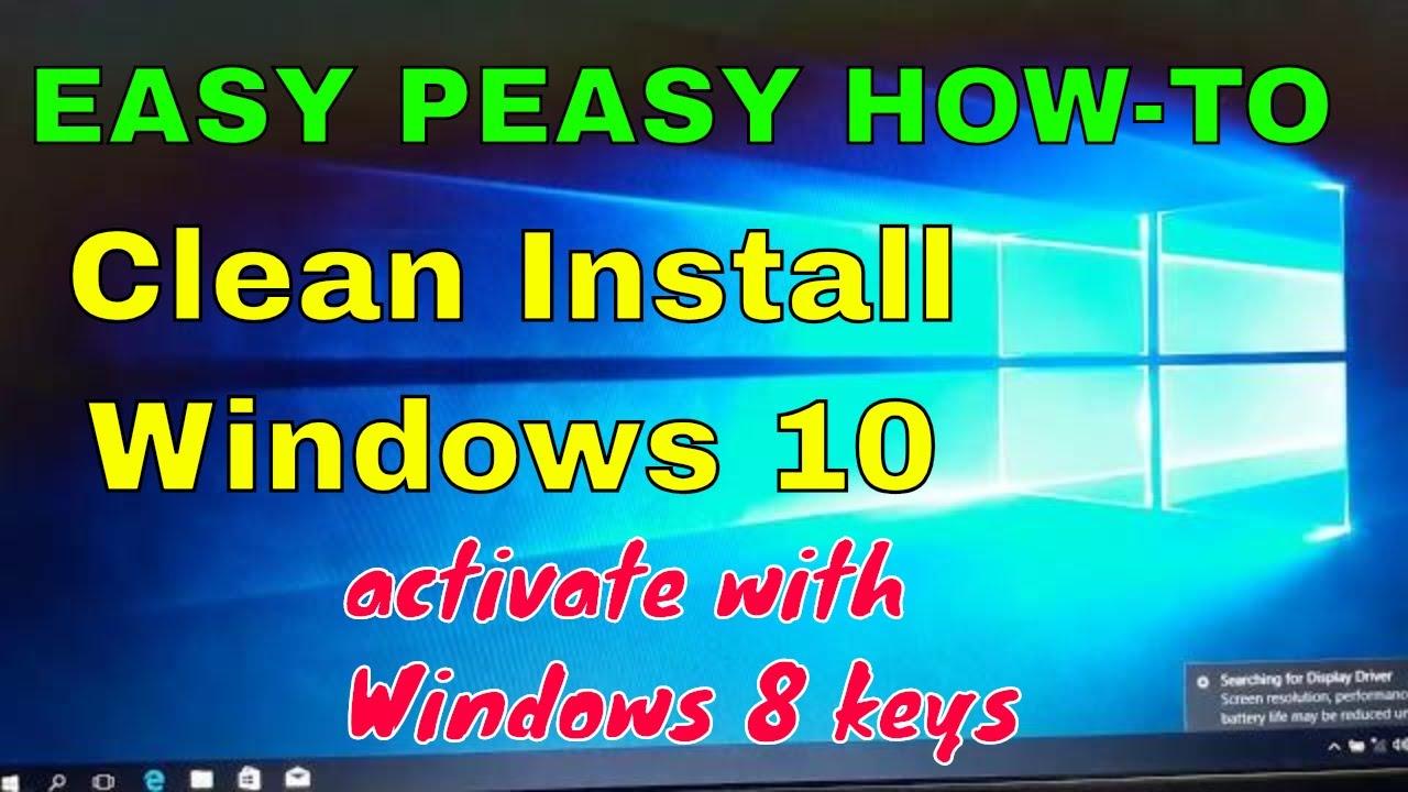 clean install windows 8.1 oem laptop