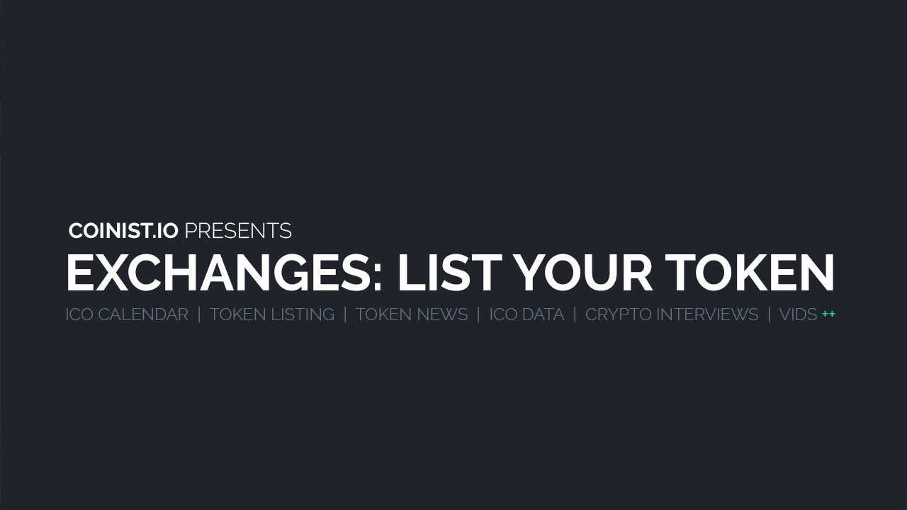 can someone list your cryptocurrency on an exchange