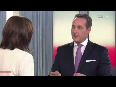 "Heinz-Christian Strache (FPÖ)  attackiert in ""Report"" den ORF"