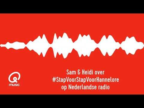Sam & Heidi vertellen over #StapVoorStapVoorHannelore bij Radio 1 NL!