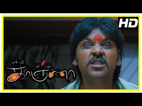 Kanchana Movie Scenes   Spirits in Raghava scare the Imams   Kanchana reveals her story   Muni 2