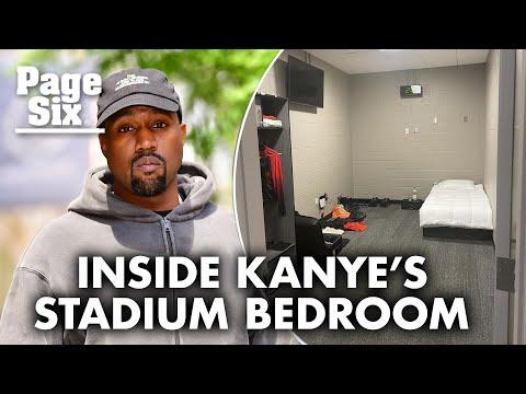 Kanye West shares photo of his Atlanta stadium bedroom | Page Six Celebrity News