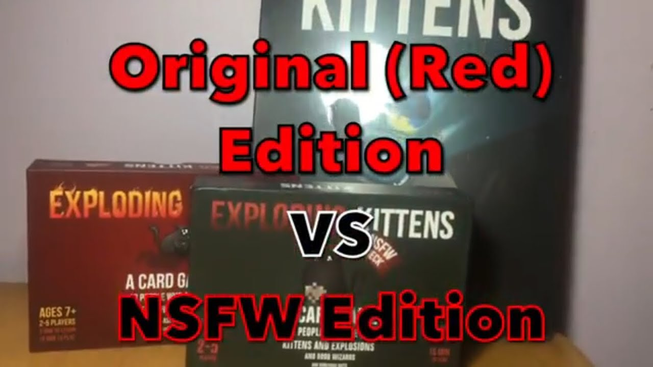 Authentic VS Fake Exploding Kittens (Side-by-Side) Original vs NSFW Edition 283a26cd9