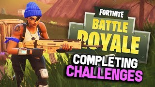 COMPLETING CHALLENGES! | Blockbuster Skin Gameplay! | Fortnite Battle Royale | 240+ Wins!