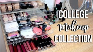 COLLEGE MAKEUP COLLECTION + Organization For Small Spaces | Jackie Ann