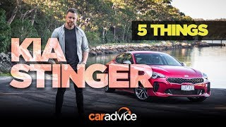 2018 Kia Stinger: 5 Things