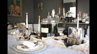 Black white and red party themed decorating ideas