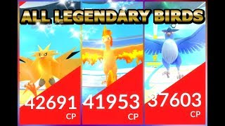ALL LEGENDARY BIRD RAIDS COMPILATION IN POKEMON GO | ZAPDOS, MOLTRES \u0026 ARTICUNO | 7 LEGENDARY RAIDS