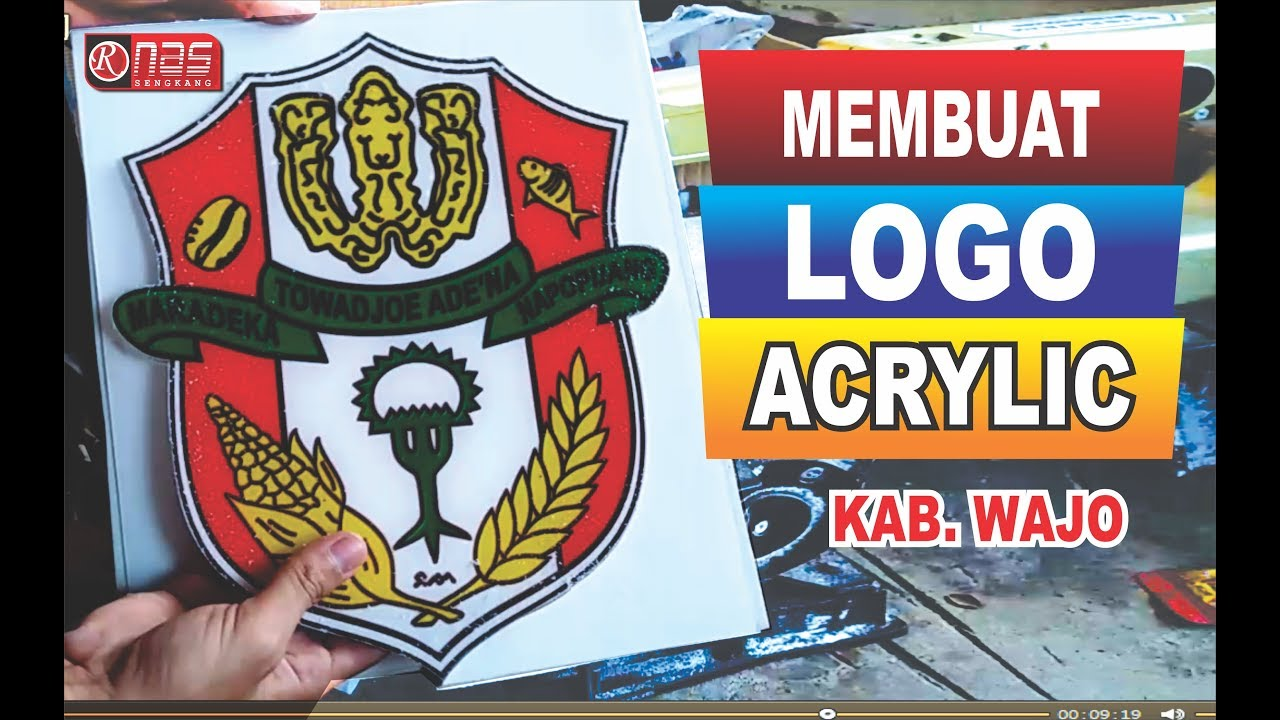 Membuat Logo Dari Acrylik Bening How To Make Acrylic Material Logo Kab Wajo Youtube