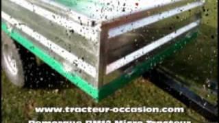 Remorque à bennage hydraulique Géo Agric, RM12 pour Micro Tracteur
