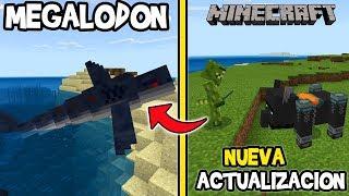 MEGALODON, TIBURÓN, BESTIAS Y Nuevos Aldeanos en Minecraft Nueva actualización Village and Pillage