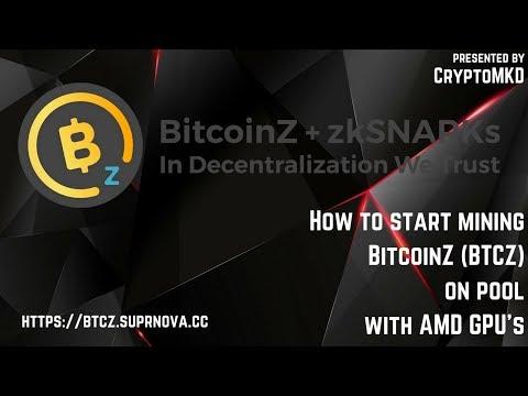 How To Start Mining BitcoinZ (BTCZ) On Pool With AMD GPU's