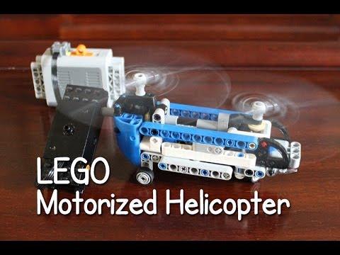 MOTORIZED Lego Technic 42020 Twin Rotor Helicopter - Time Lapse - YouTube