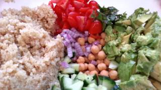 Quinoa,  Chickpea And Avocado Salad