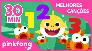 Tubarão 123 e mais músicas Infantis | + Compilação | Pinkfong Canções para crianças